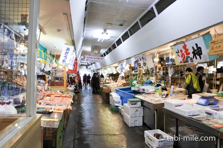 青森魚菜センター古川市場 市場の様子