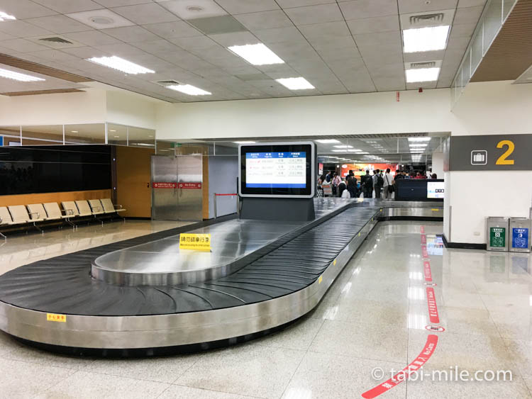 台湾旅行ー台北松山空港 預け荷物受け取り