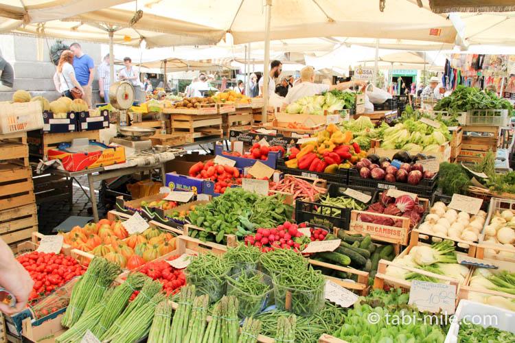 イタリアローマの市場