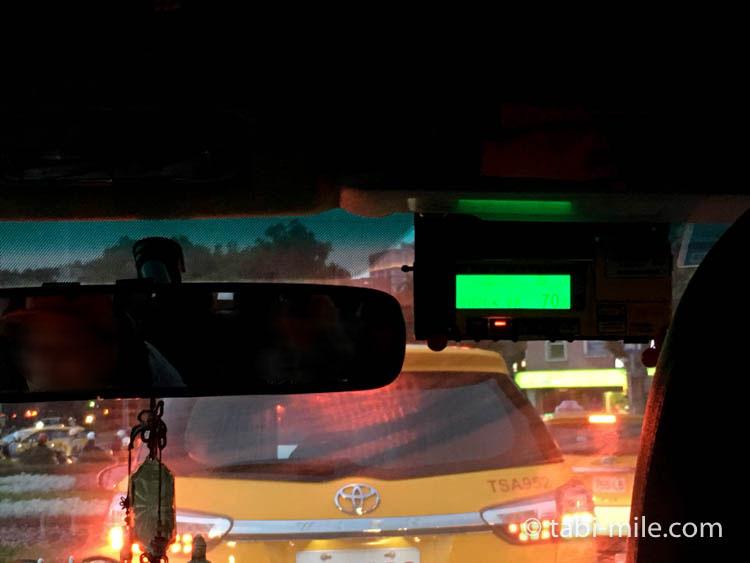 台湾旅行ー台北松山空港からのタクシー メーター