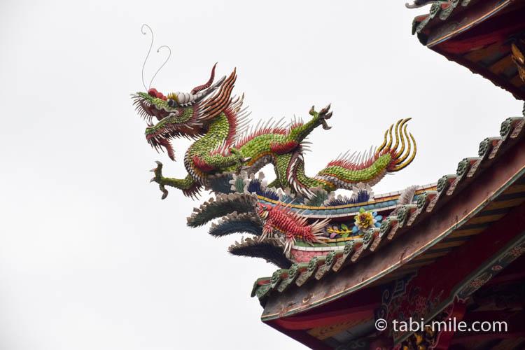 龍山寺の龍アップ