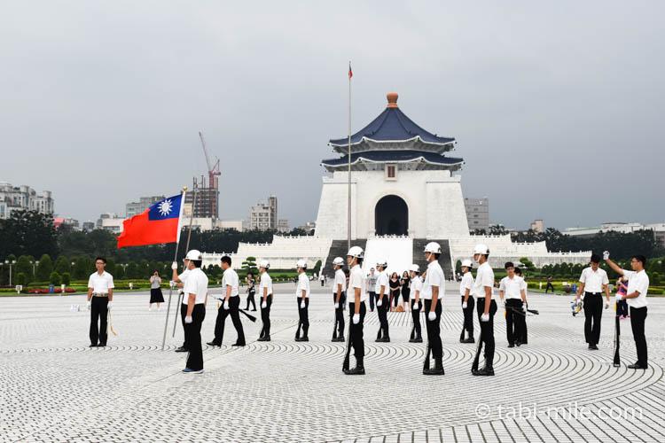 中正紀念堂衛兵の訓練
