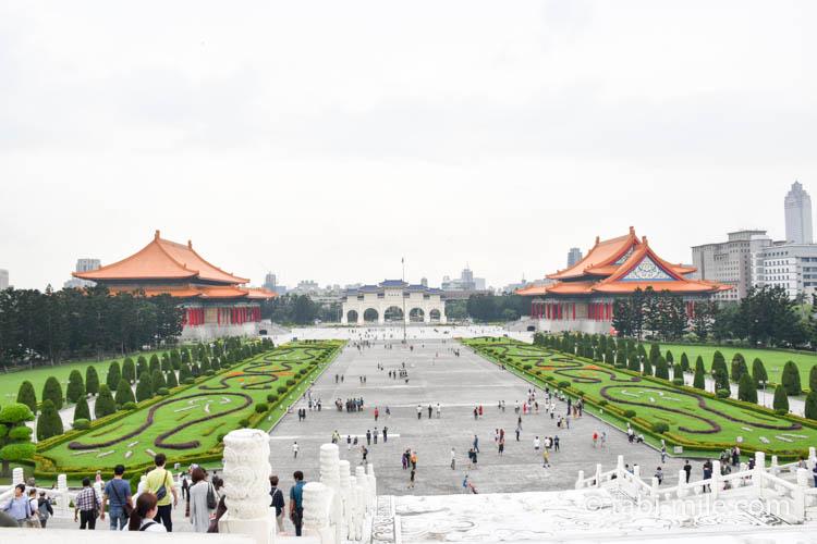 中正紀念堂最上段からの景色