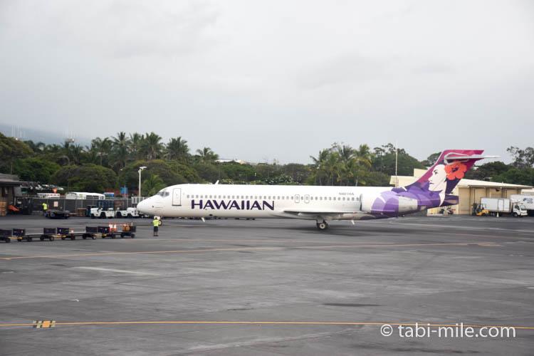 ハワイアンエアライン コナ空港