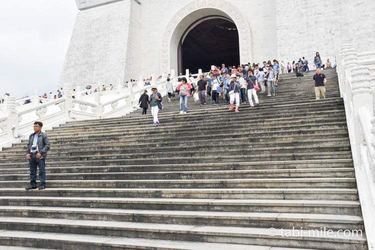 中正紀念堂急な階段