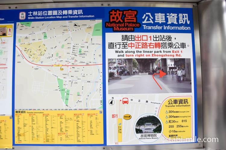 台湾国立故宮博物院アクセス03