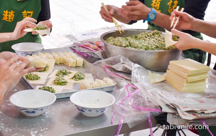 台湾 趙記菜肉餡饅大王 ワンタンスープ 手作り2