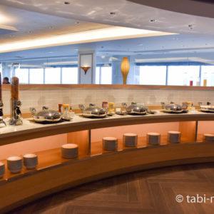 シェラトングランデ東京ベイのクラブラウンジ朝食01