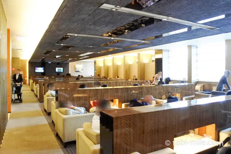 台北松山空港VIPラウンジ座席の様子