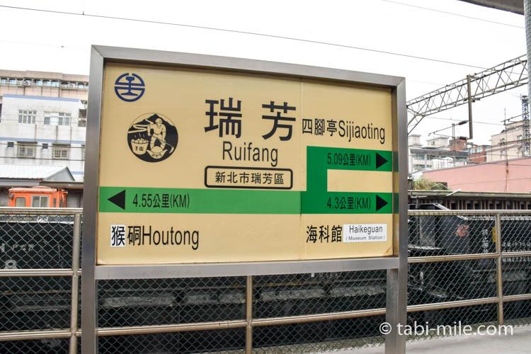 九份への行き方 瑞芳駅看板