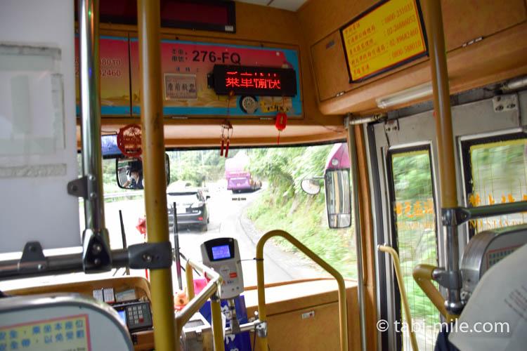 九份から台北への帰り方 瑞芳行きのバス車内