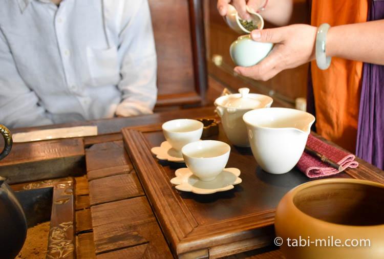 台湾 九份茶房 台湾茶 入れ方1
