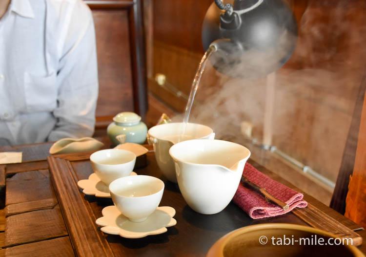台湾 九份茶房 台湾茶 入れ方2