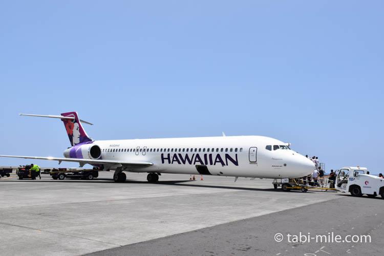 ハワイアン航空ホノルルからハワイ島へのフライト66