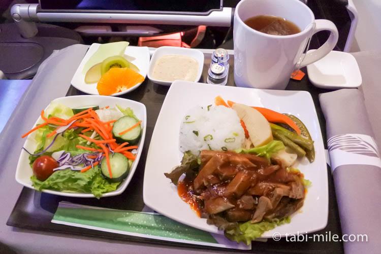 ハワイアン航空 ビジネスクラス軽食