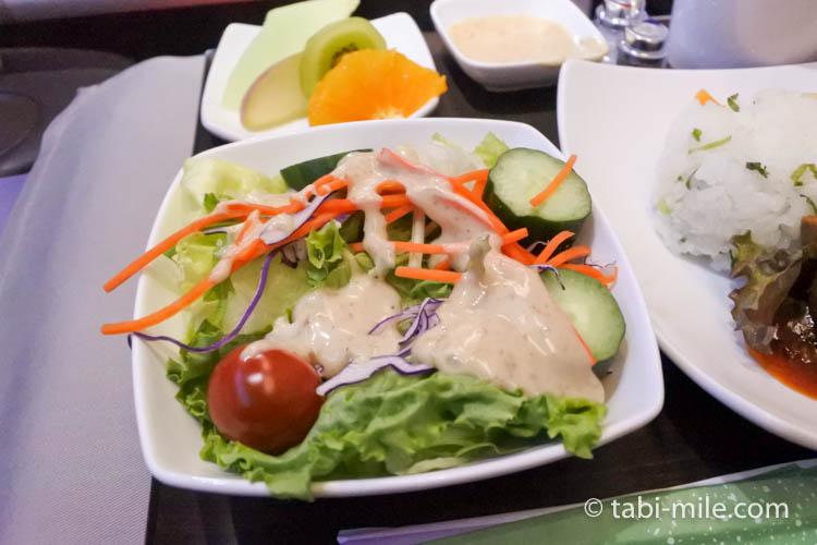 ハワイアン航空 ビジネスクラス軽食サラダ