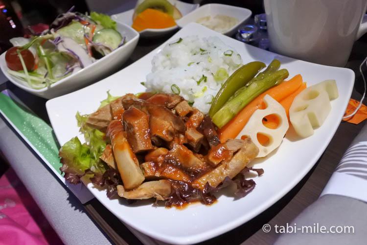 ハワイアン航空 ビジネスクラス軽食メイン