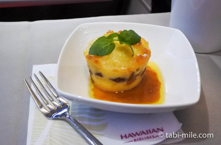 ハワイアン航空 ビジネスクラス軽食デザート1