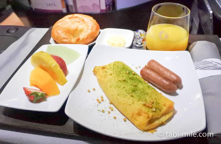 ハワイアン航空 ビジネスクラス朝食