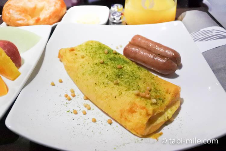 ハワイアン航空 ビジネスクラス朝食オムレツ1