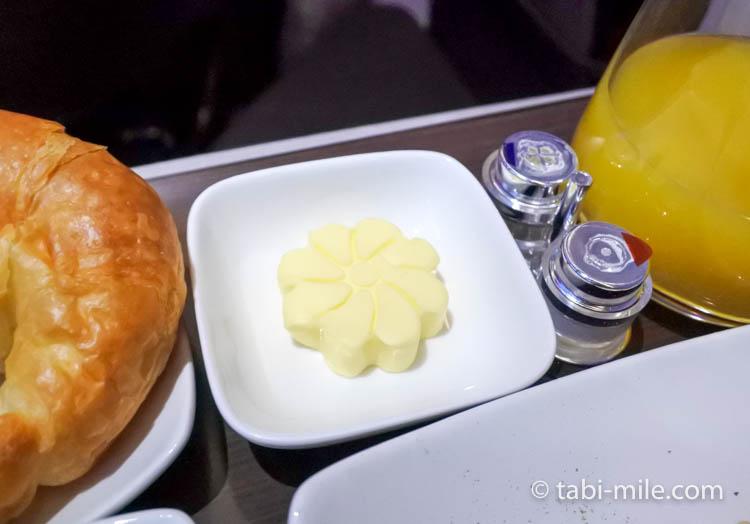 ハワイアン航空 ビジネスクラス朝食バター
