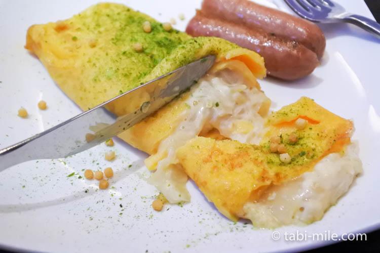 ハワイアン航空 ビジネスクラス朝食オムレツ2