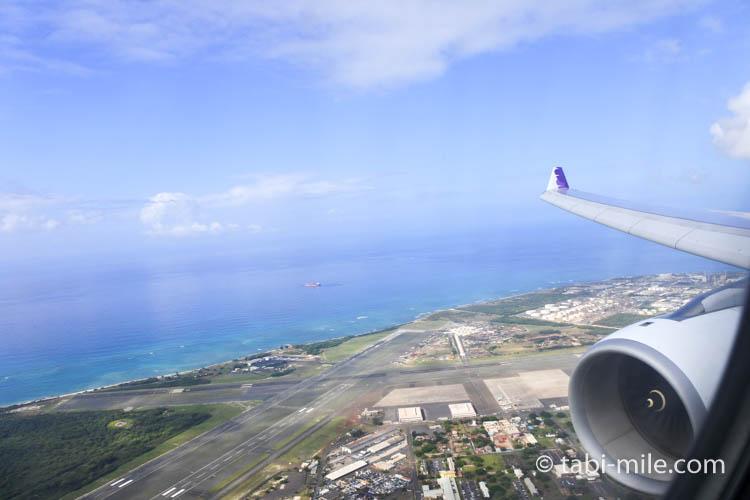 ハワイアン航空からの景色