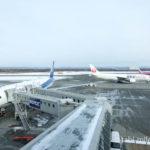 新千歳空港のANAとJALとピーチ