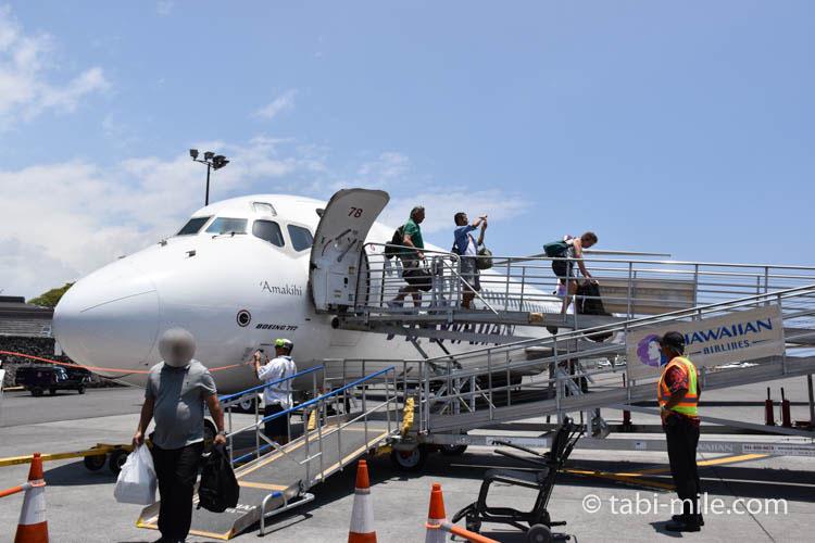 ハワイアン航空ホノルルからハワイ島へのフライト65