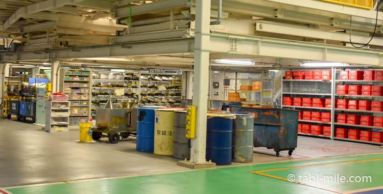 ANA機体工場見学の整理整頓