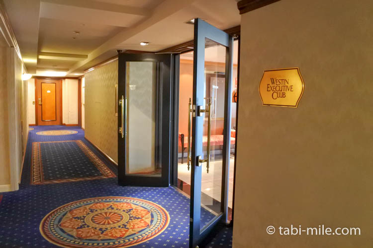 ウエスティンホテル東京エグゼクティブクラブラウンジ入り口