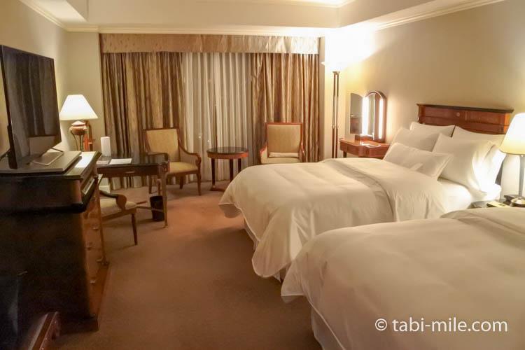 ウエスティンホテル東京エグゼクティブクラブルームのベッド