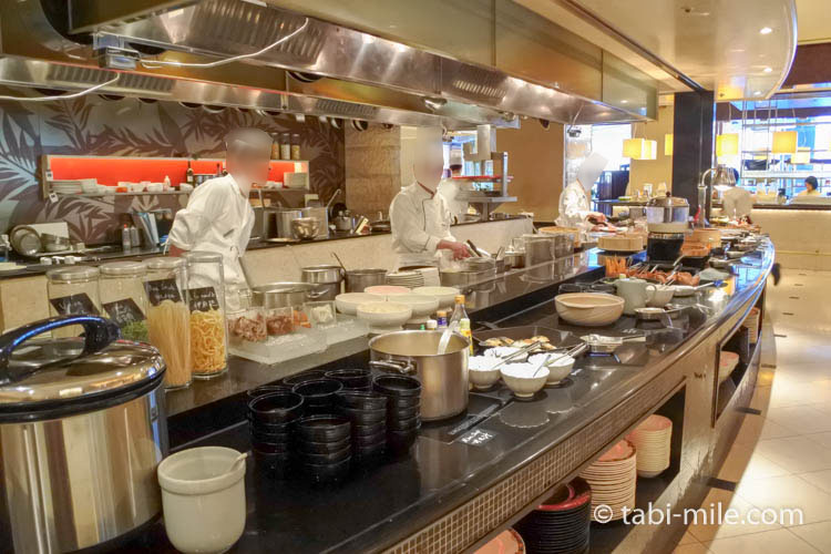ウエスティンホテル東京の朝食の様子