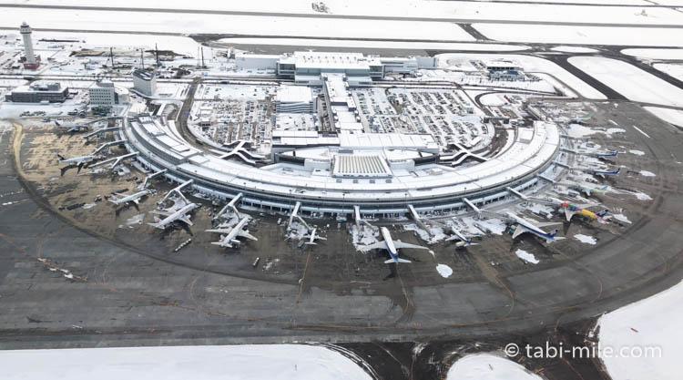 札幌新千歳空港上空からの写真