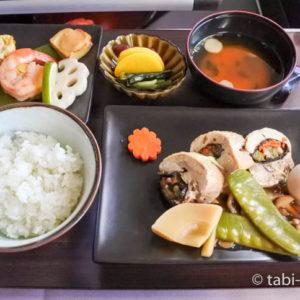 ハワイアン航空コナ空港プリミアラウンジ ビジネスクラス機内食