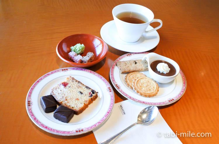 ウェスティンホテル東京 エグゼクティブクラブラウンジ ライトスナック パウンドケーキ クッキー 和菓子