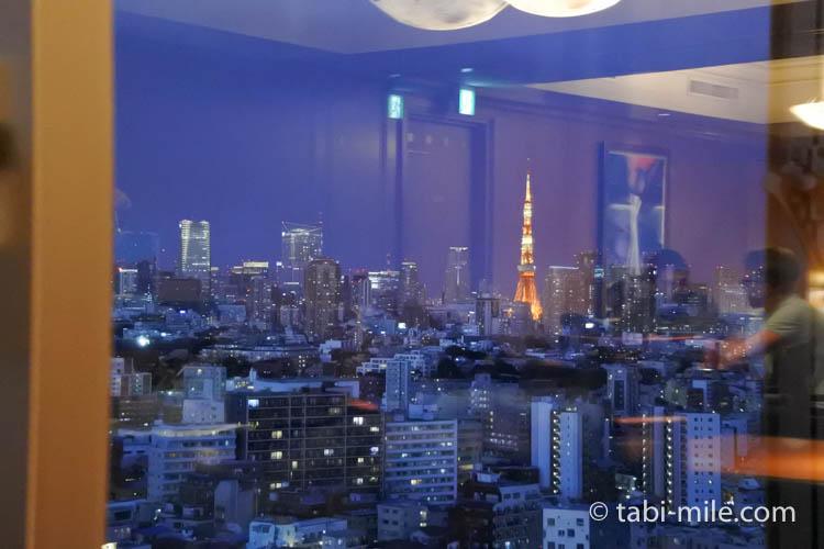 ウェスティンホテル東京 エグゼクティブクラブラウンジ 窓からの景色夜景