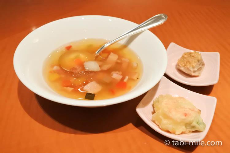 ウェスティンホテル東京 イブニングカクテル 食べたもの スープ 天ぷら