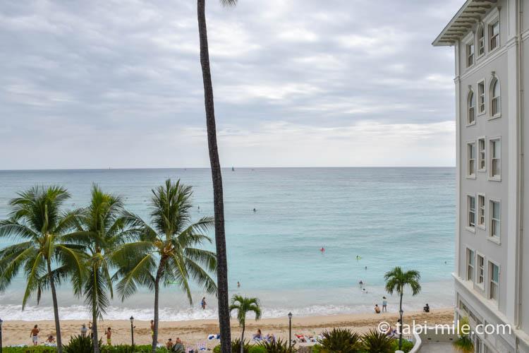 ハワイワイキキモアナサーフライダー 部屋からの景色