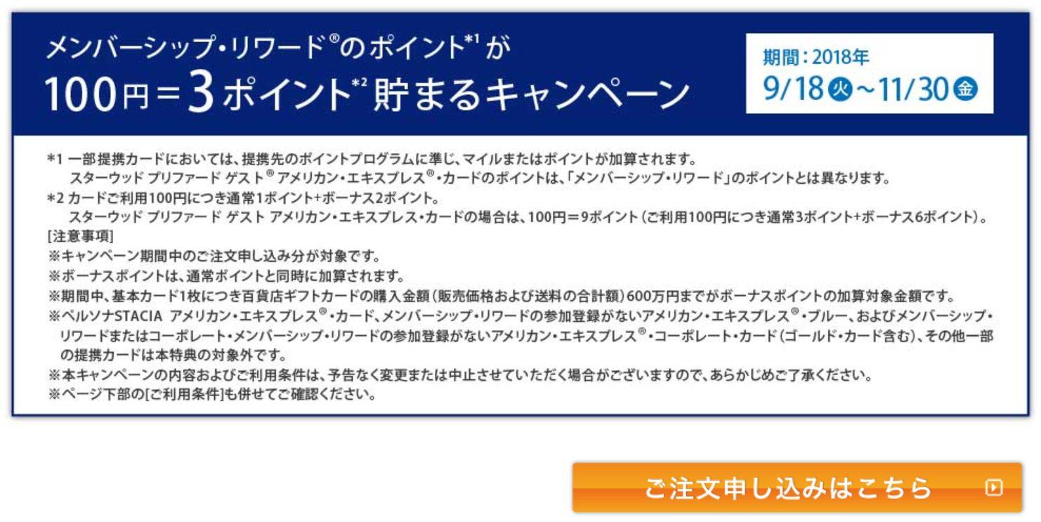 アメックス・SPGアメックス百貨店ギフトカード購入方法01