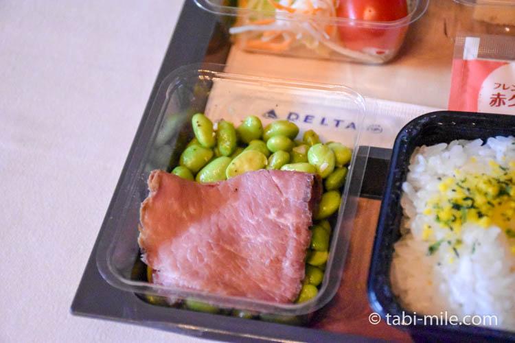 デルタ航空新キャビン・メインキャビン機内食試食05