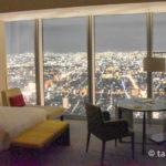 大阪マリオット都ホテル部屋からの夜景