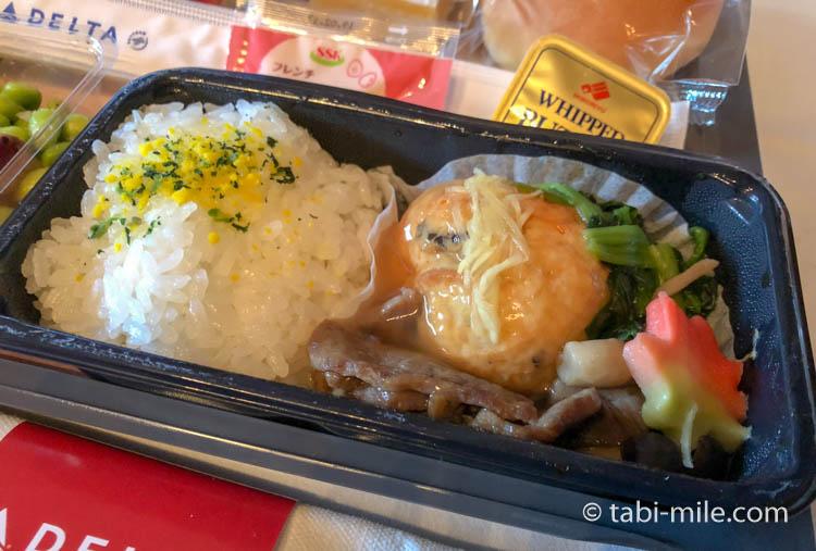 デルタ航空新キャビン・メインキャビン機内食試食09