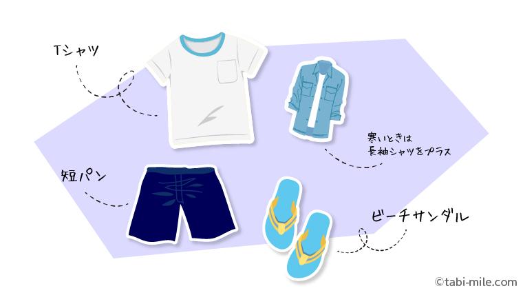 男性のハワイ服装の一例
