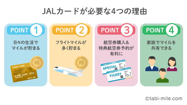 JALカードが必要な4つの理由