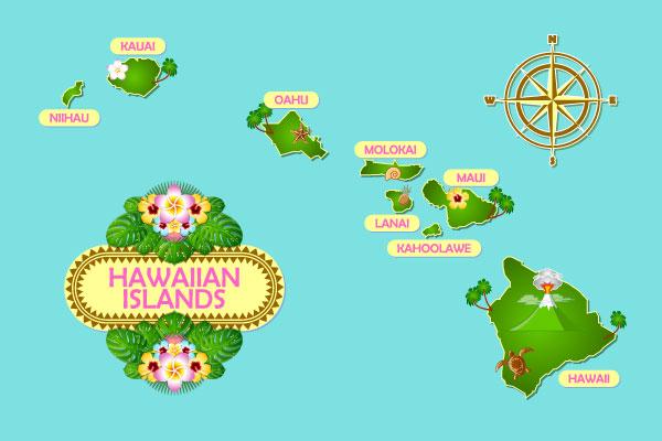 ハワイ地図