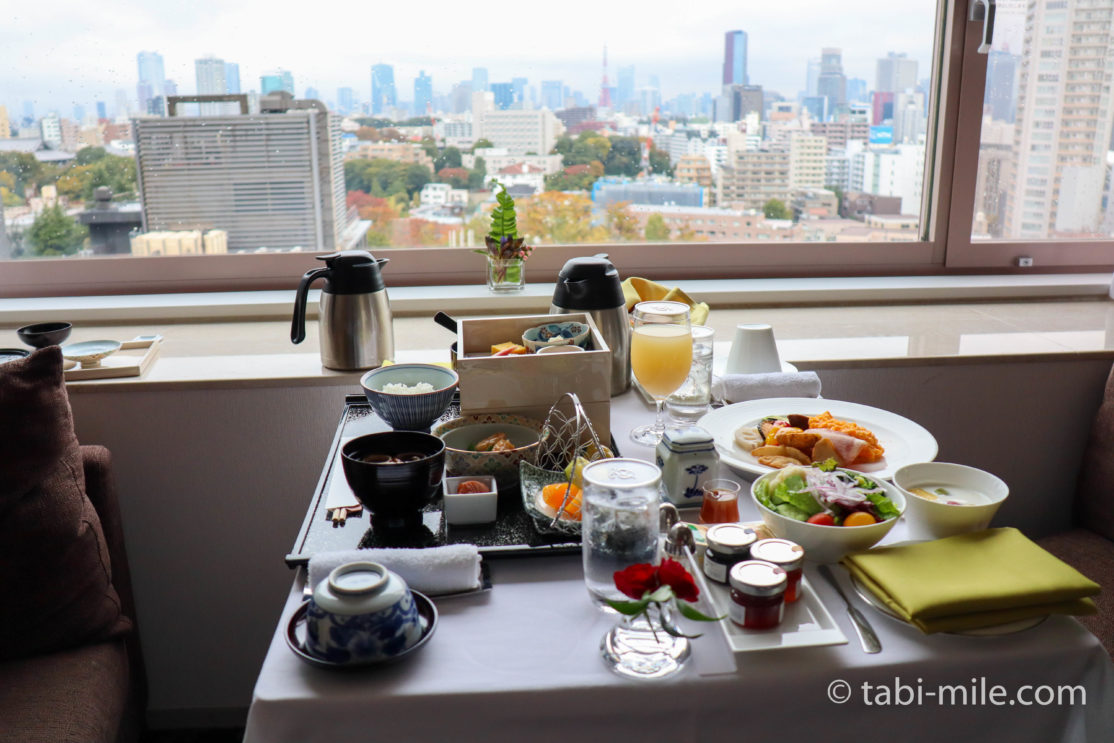 ザ・プリンス さくらタワー東京 オートグラフ コレクション ルームサービス朝食と夕食