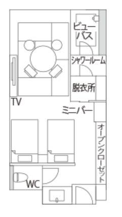 軽井沢マリオットホテル間取り図