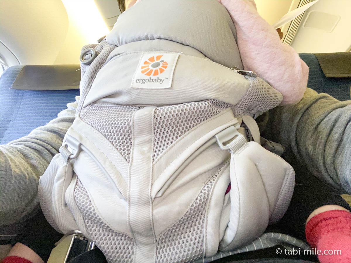 羽田空港、飛行機、抱っこ紐