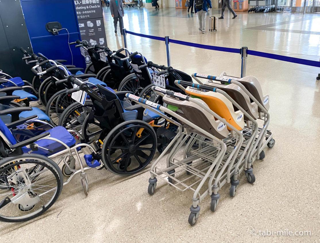 沖縄空港、ベビーカー置き場